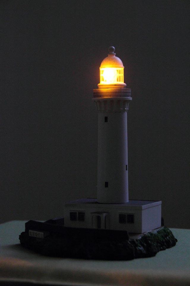 塩屋埼灯台 模型 点灯