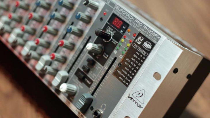 ミキサー新調(RX1202FX EURORACK PRO)